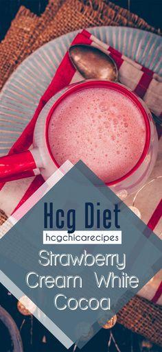 Phase 2 hCG Diet Hot Drink Recipe: Strawberry Cream White Cocoa - 13 calories - hcgchicarecipes.com - drink meal - hcg diet phase 2 recipe hcg diet p2 recipe hcg protocol hot drink idea hcg diet hot beverage recipe hcg diet strawberry recipe hcg diet milk recipe hcg diet half and half recipe