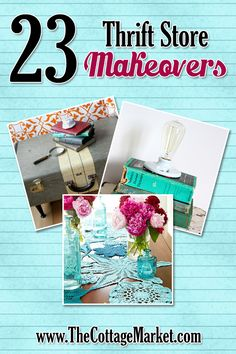 23 Thrift Store Makeovers - The Cottage Market #Makeovers, #ThrifstoreMakeovers, #ThriftstoreCreations