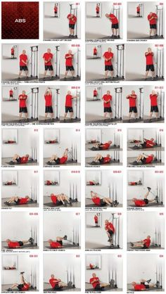 Tower 200 ABS exercises flutter kicks with resistance