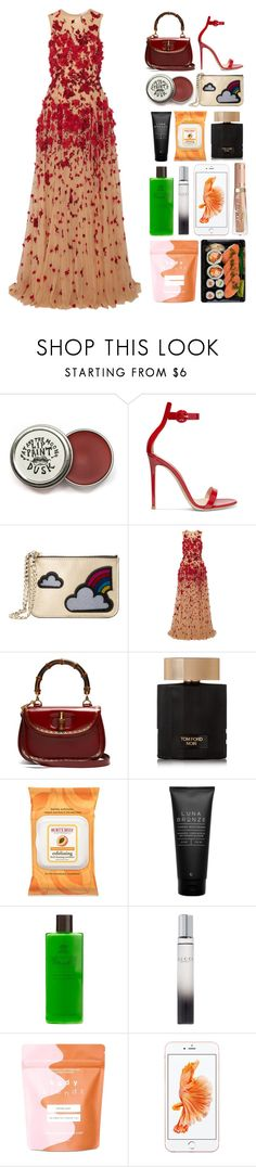 """6.402"" by katrinattack ❤ liked on Polyvore featuring Gianvito Rossi, Les Petits Joueurs, Zuhair Murad, Gucci, Tom Ford, Burt's Bees, Luna Bronze, Agraria, Forever 21 and party"