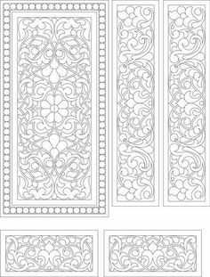 on request Images artistic jigsaw sawing Stencil Patterns, Stencil Designs, Pattern Art, Pattern Design, Medieval Painting, Quilting Designs, Embroidery Designs, Boutique Scrapbooking, Motif Oriental