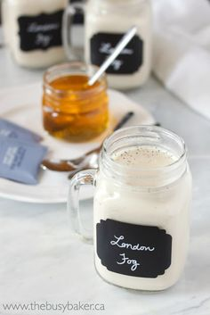 A deliciously simple Earl Grey Tea Latte (London Fog) that you can make healthier at home! Low in fat and free of refined sugars!