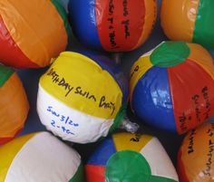 beachball invites instead of paper ones super cute for water pool sprinkler birthday party