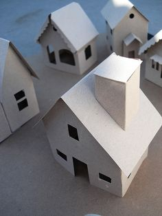 Paper houses templates