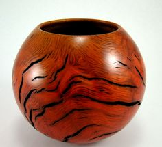 Hot Lava II Oak Burl Bowl by Greg Gallegos