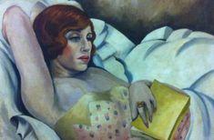 Gerda Wegener - Portrait of Lili Elbe - After Einar started transitioning into Lili, she became Gerda's Muse Lili Elbe Paintings, Einar Wegener Paintings, Pop Art, Painting Of Girl, Girl Paintings, Painting Art, The Danish Girl, Princess And The Pea, Art Moderne