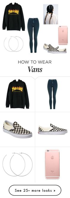 """Thrasher and Vans"" by mixedchick-13 on Polyvore featuring Topshop, Vans and Allison Bryan"