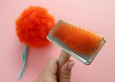 The Secret to making Super Fluffy Pom Poms - This pom pom was made with a loosely woven chunky yarn. The final effect was almost like rabbit fur, but it shed a ton of fibre.My secret craft technique for making the fluffiest pom poms ever. Pom Pom Crafts, Yarn Crafts, Paper Crafts, Diy Pom Pom Rug, Yarn Pom Poms, Mason Jar Crafts, Mason Jar Diy, Crafts To Make And Sell, Diy And Crafts