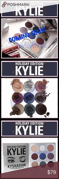 ❄️KYLIE❄️KYSHADOW❄️HOLIDAY❄️PALETTE 🚫NO TRADES ✅💯% AUTHENTIC‼️ ✅BUY WITH CONFIDENCE ✅PRICE IS FIRM  These shades are INFUSED W/DIAMOND POWDER & come in limited edition silver packaging for the holiday season.  Shades include: ❄️Sugar Cookie (creamy warm nude) ❄️Frosty (platinum silver) ❄️Chestnut (muted dusty mauve) ❄️Mittens (deepened mahogany red) ❄️Winter (shimmering denim blue) ❄️Nutcracker (silvery plum) ❄️Gingerbread (shimmering silver bronze) ❄️Evergreen (deep teal green) ❄️Silent…