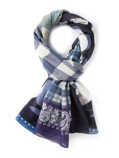 Pierre-Louis Mascia | mixed print scarf #pierrelouismascia #scarf