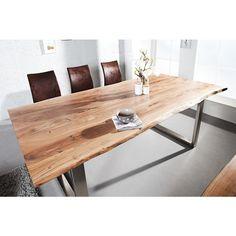Moderne Eettafel Mammoet II 200cm Acacia   35944