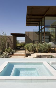 clear pool in the desert