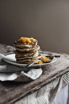 Poppyseed pancakes with citrus syrup