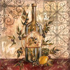 Tre Sorelle Art for Home Decor Decoupage Vintage, Decoupage Paper, Olive Oil Image, Images Victoriennes, Wine Pics, Tuscan Art, Sunflower Kitchen Decor, Background Tile, Decoupage Printables