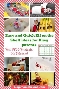 Easy Elf on the Shelf ideas for busy parents + Free Elf calendar printable! – Ma… – elf on the shelf ideas easy Simple Christmas, All Things Christmas, Christmas Crafts, Toddler Classroom, Toddler Behavior, Toddler Crafts, Toddler Activities, The Elf, Elf On The Shelf