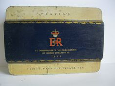 PLAYERS Navy Cut Cigarette tin  (1953 Coronation tin)