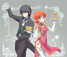 Nora and Ren as maids/butlers Rwby Rwby Fanart, Rwby Anime, Rwby Ren, Nora Rwby, Team Jnpr, Team Rwby, Steven Universe, Red Like Roses, Rwby Memes