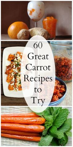 60 Great Carrot Recipes you have to try!