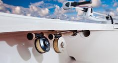mako 18 lts: additional rod storage tubes are located under the bow  gunwales
