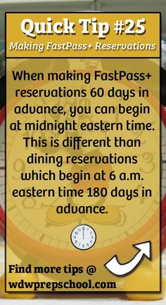 Don't forget! Find lots more tips for your Disney trip @ wdwprepschool.com