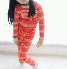 fairisle print christmas pajamas