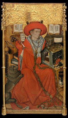Jaume Ferrer Documented in Lleida, 1430-1461: Saint Jerome in his Study, Museu nacional d'art de Catalunya, Barcellona