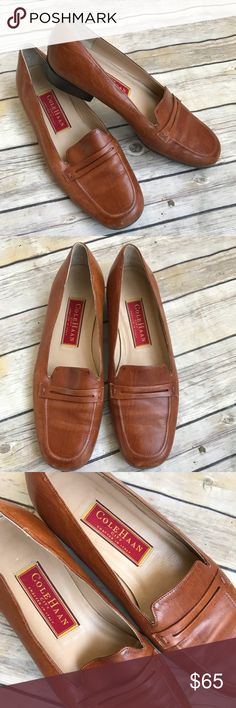 Cole Haan Leather Loafers Worn, but still in beautiful condition, see pictures for signs of wear from normal use. Classic design loafers. Very well made. Made in Italy. Women's size 6. Cole Haan Shoes Flats & Loafers