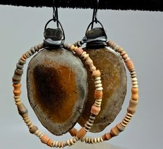 Ancient pottery by Tracy DiPiazza - sterling silver