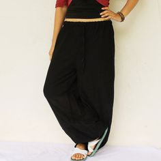black  very simply harem balloon pants and by meatballtheory, $25.00