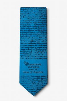 Declaration Of Independence Extra Long Tie