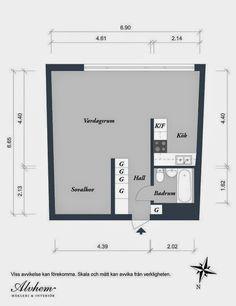 Minipiso de 44 m2 tipo loft