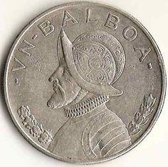 Panama Balboa Coin Dated 1934 Vasco Nunez de Balboa! VF Condition! .900 Silver!