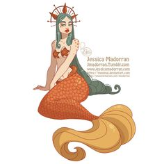 MerMay Day 09 - Celestial Mermaid ☺️ Still feeling that Met Gala inspiration #jmadorran #jessicamadorran #characterdesign #mermay…