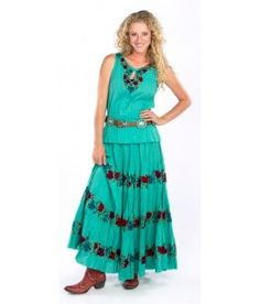 "Double D Ranch 2015 "" Queen Of The Rodeo "" Skirt! 2 Colors!!"