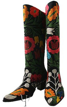 Suzani Boots....I want these!