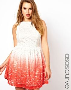 ASOS CURVE Exclusive Skater Dress In Lace