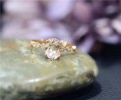 Natural Morganite Ring Description:   Natural Morganite Ring Metal & Size:This ring is for the solid 14k White gold, Yellow gold & Rose gold. And size