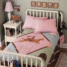 Possible idea for Scar's toddler room...she loves horses