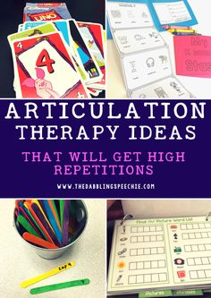 articulation therapy ideas that will get high repetitions