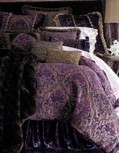Paisley Bedding – Best Bed Linen Ever Plum Bedding, Paisley Bedding, Linen Bedding, Bed Linens, Purple Bedding Sets, Gold Bedding, Bedding Sets Online, Luxury Bedding Sets, Comforter Sets
