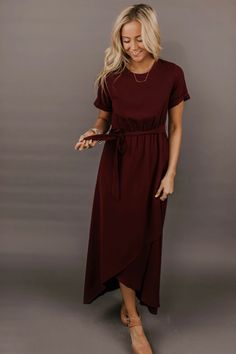 This modest maxi dress combines elegance and class like never seen before! Gathered elastic waist with working tie is paired with short cuffed sleeves and round neckline. Modest Maxi Dress, Maxi Wrap Dress, Boho Dress, Dress Skirt, Maxi Dresses, Floral Dresses, Shift Dresses, Long Dresses, Evening Dresses
