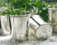 Sterling Silver Mint Julep Cups.