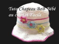 Tuto bob chapeau pour bébé au crochet