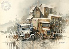 Ice on Ice, art by John Bohnenberger – California Watercolor