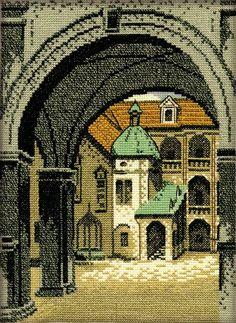 Схема вышивки крестом «Внутренний дворик»
