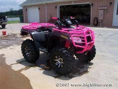 Pink 4 wheeler