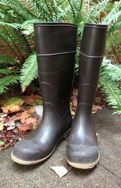 LaCrosse, Rubber, Black, Rain Boots, Tall, Heavy Sole, Women's 8, Men's 6 #LaCrosse #Rainboots