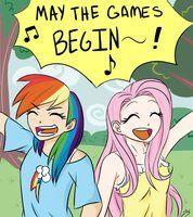 MLP FIM My little pony firendship is magic human fluttershy rainbow dash