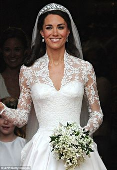 In April 2011 for her wedding to Prince William, the Duchess of Cambridge wore the Cartier Halo Tiara