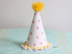 diy fabric party hat // say yes to hoboken